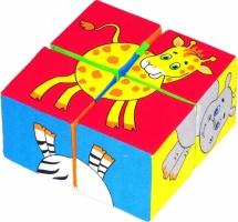 Кубики Мякиши Собери картинку. Животные-2