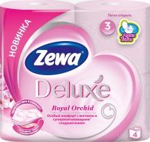 Туалетная бумага Zewa Deluxe Орхидея 3 слоя 4 рулона