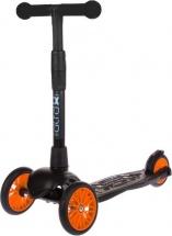 Самокат Buggy Boom Alfa Model 3-х колесный с цветными колесами, оранжевый