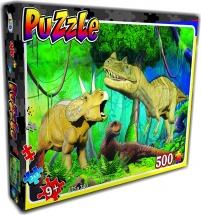 Пазл STRATEG Динозавры 500 элементов