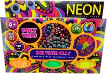 Набор полимерной глины для лепки Poly Teens Neon