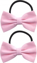 Резинки для волос Mary Poppins Бантики 2 шт, розовый