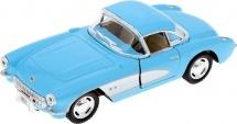 Машинка Kinsmart Chevrolet Corvette 1957, голубой