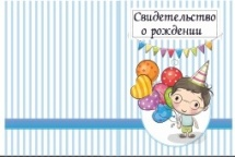 Обложка для Свидетельства о рождении Праздник
