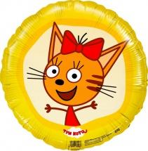 """Воздушный шарик 18""""/45см Три кота. Карамелька фольгированный"""