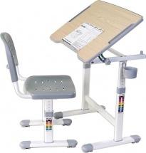 Парта-трансформер FunDesk Piccolino II Grey + стул