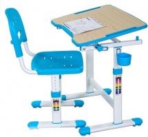 Парта-трансформер FunDesk Piccolino II Blue + стул