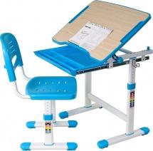 Парта-трансформер FunDesk Piccolino Blue + стул