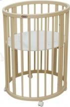 Кроватка-трансформер Dreams Бук Standart 8 в 1 круглая, слоновая кость