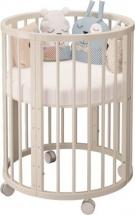 Кроватка-трансформер Dreams Бук Premium 8 в 1 круглая, слоновая кость