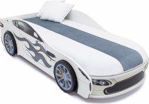 Кровать-машина Бондмобиль, белый