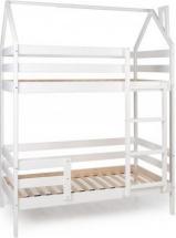 Кровать-домик Scandi Barn двухъярусная с бортиком, белый