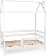 Кровать-домик Scandi Nest одноярусная с бортиком, белый