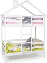 Кровать-домик Scandi Hut двухъярусная с бортиком, белый