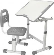 Парта-трансформер FunDesk Sole II Grey + стул-трансформер