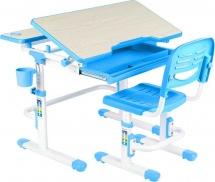Парта-трансформер FunDesk Lavoro Blue + стул