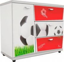 Комод Z3 Футбол, красный