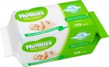 Влажные салфетки Huggies Ultra Comfort с Алоэ 128 шт
