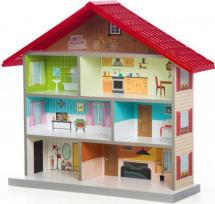 Кукольный домик MiMi, красный