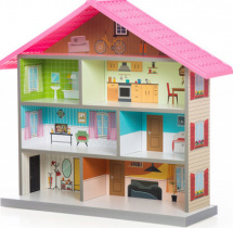 Кукольный домик MiMi, розовый