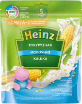 Каша Heinz молочная кукурузная с Омега-3 с 5 мес 200 г