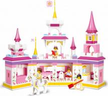 Конструктор Sluban Розовая мечта. Волшебный замок принцессы 385 деталей