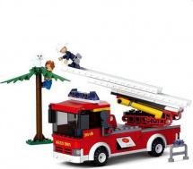 Конструктор Sluban Пожарная бригада. Пожарная лестница 269 деталей