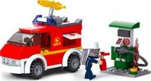 Конструктор Sluban Пожарная бригада 136 деталей