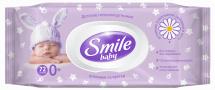Влажные салфетки Smile Baby фитолиния 72 шт