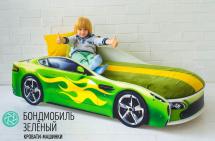 Кровать-машина Бондмобиль, зеленый