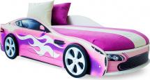 Кровать-машина Бондмобиль, розовый