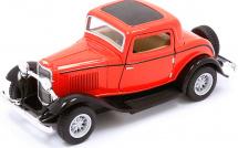 Машинка Kinsmart Ford 3-Window купе 1932, красный