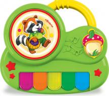 Пианино с огоньками Азбукварик Крошка енот