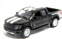 Машинка Kinsmart Ford F-150 SVT Raptor с полосками, черный