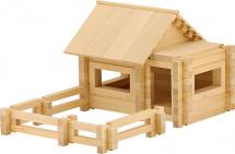 Конструктор деревянный Пелси Архитектор 132 детали