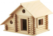 Конструктор деревянный Пелси Деревенский дом 90 деталей