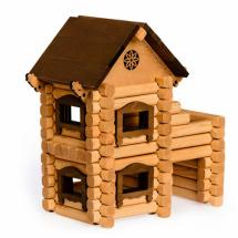 Конструктор деревянный Томик Терем 98 деталей