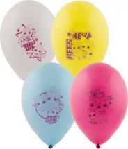 """Воздушный шарик 12""""/30см Пастель Куклы ЛОЛ 1 шт, цвет микс"""