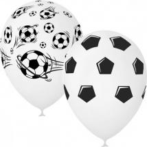 """Воздушный шарик 12""""/30см Футбол 1 шт, белый микс"""