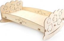 Сборная деревянная модель Polly Кроватка для пупсов