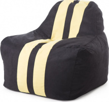 Бескаркасное кресло-мешок Sport, черный/желтый