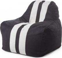 Бескаркасное кресло-мешок Sport, черный/белый