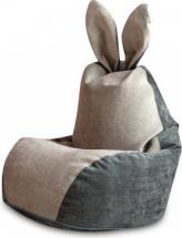 Бескаркасное кресло-мешок Зайка, серый