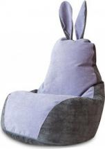 Бескаркасное кресло-мешок Зайка, серо-лавандовый