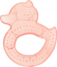 Прорезыватель Knopa Уточка охлаждающий, розовый