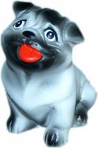 Игрушка резиновая Кудесники Собачка Мопс