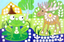 Книга-картинка с наклейками Феникс Картинки из мозаики. Собираю лес