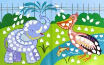 Книга-картинка с наклейками Феникс Картинки из мозаики. Собираю зоопарк