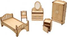 Мебель для кукольного домика Polly Спальня