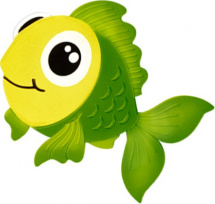 Мини-коврик Valiant Рыбка моя, зеленый
